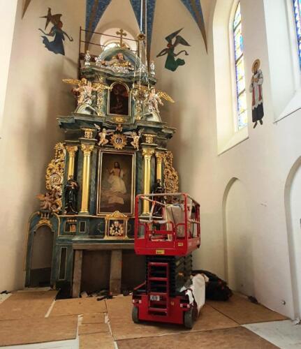 Malowanie prezbiterium